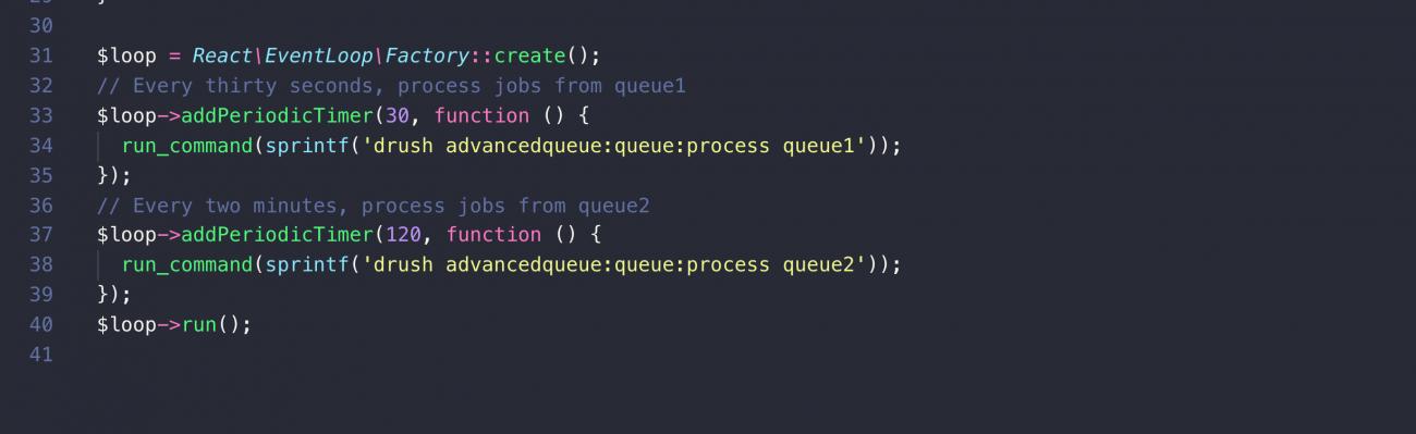 ReactPHP code