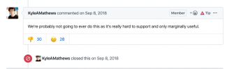 Comment on Github issue