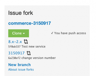 Issue fork data on an issue