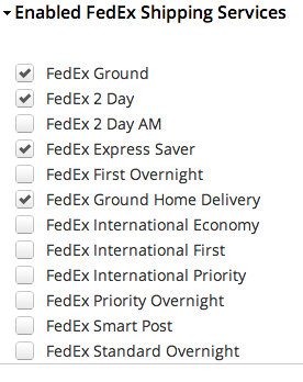 FedEx delivery options