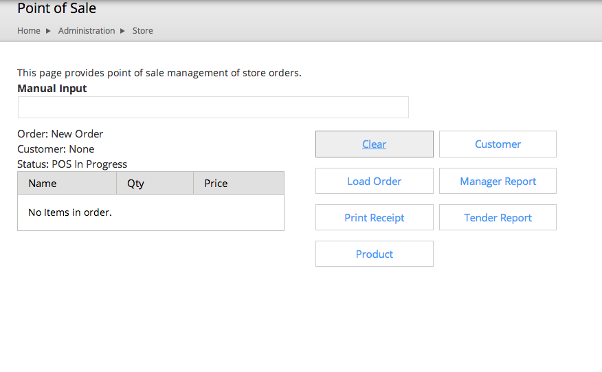 Drupal Commerce Point of Sale interface