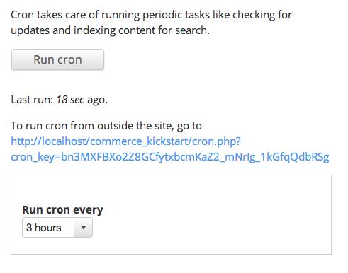 Drupal Cron configuration page