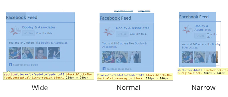 Example of responsive Facebook Like Box